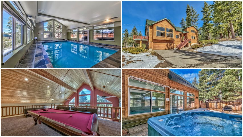 Heated 5Bd Indoor Pool House, Hot tub,Steam Shower