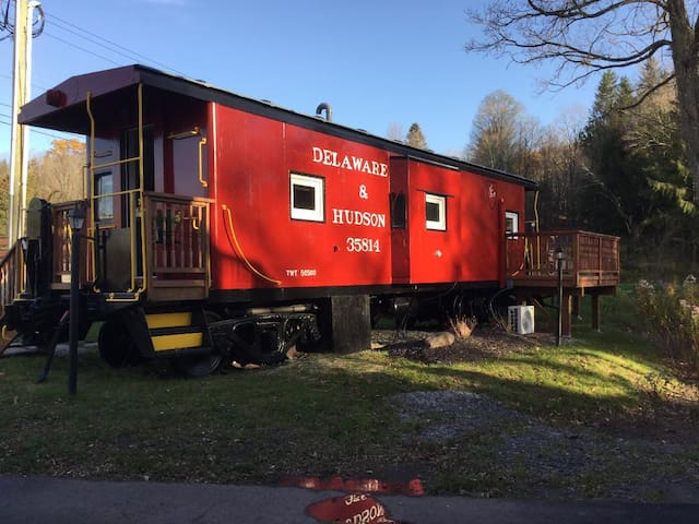 Vintage, Restored 1922 Caboose in Downtown Windham