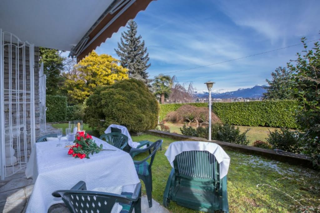 Private terace and garden