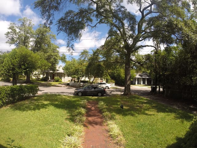 view of the front yard from the porch