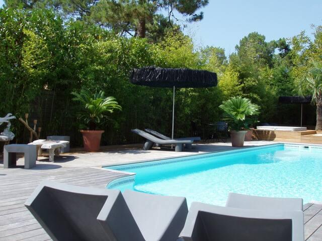 Balaou superbe villa tout confort 200M plages pisc