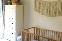 Baby room with crib