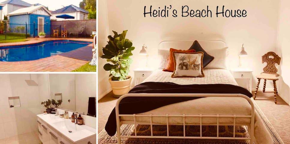 Heidis Beach House. Walk to Beaches, Cafes, Pool.