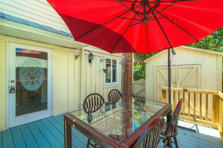 Enjoy the sunshine on the outside deck