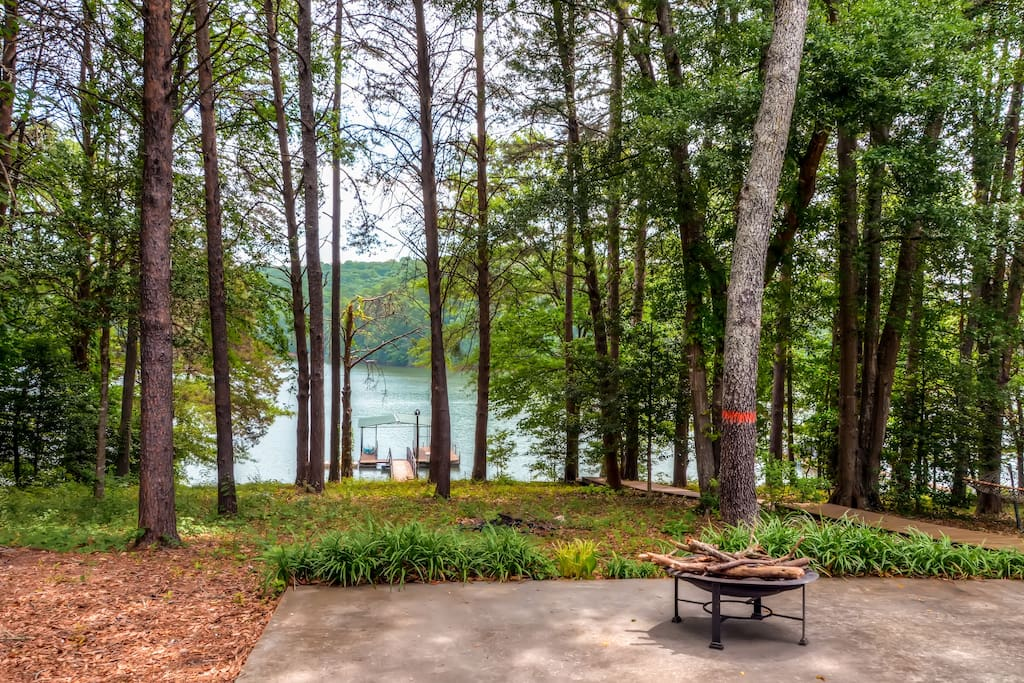 Enjoy direct views of Hartwell Lake from all 3 levels of the house