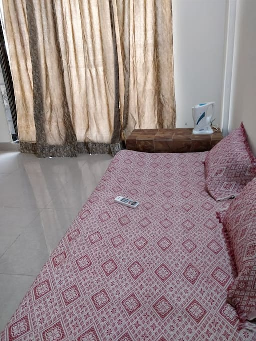 Ground Level Bed with Side Table / Electric Kettle for Morning Tea
