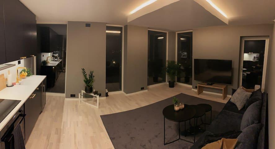 New luxury apartment w/adjustable bed,balcony+++