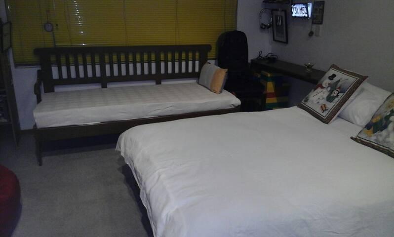 Cama Doble más sofa cama y escritorio privado