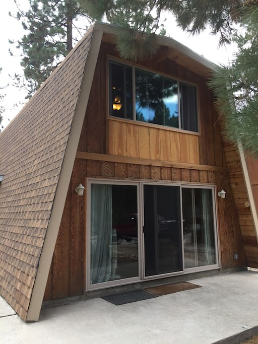 The front side of the cabin.