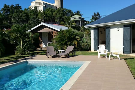 Sweet bungalow with swimming pool - morne à l'eau