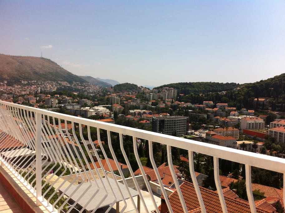 View over more than a half of Dubrovnik