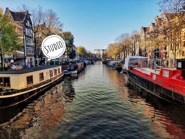 Cozy studio on canal