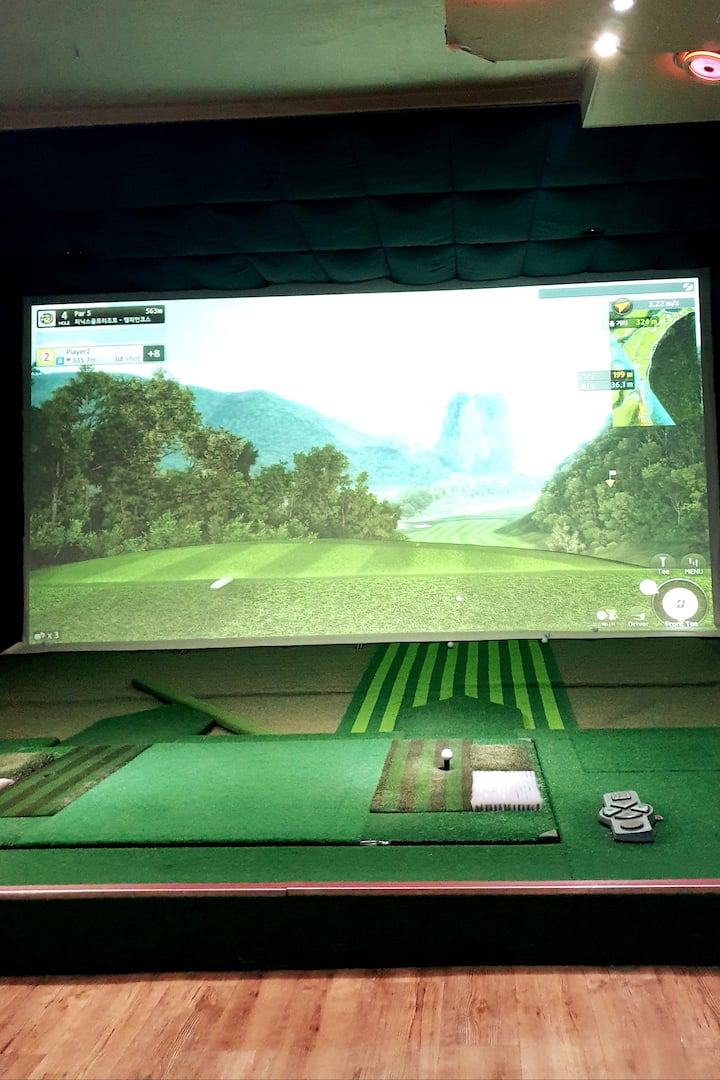 This is screen golf platform