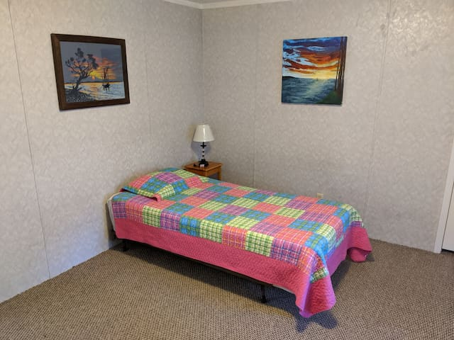 Large Third Bedroom has 2 Comfortable Single beds