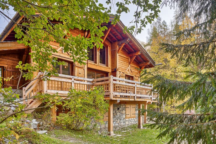 Chalet Higamel Stunning luxury near Le Tour tele-cabin