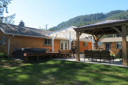 Mountain Haven w-Private Sauna, AC, Hot Tub - Randle - Casa