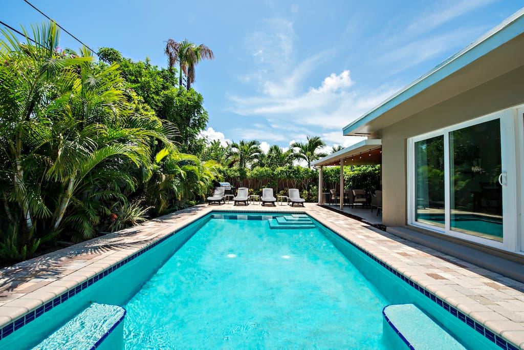 Incredible backyard for enjoying the FL sun.