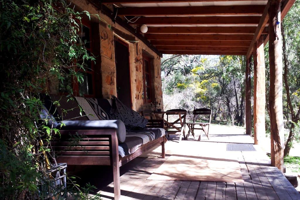 Relax on the sunny veranda