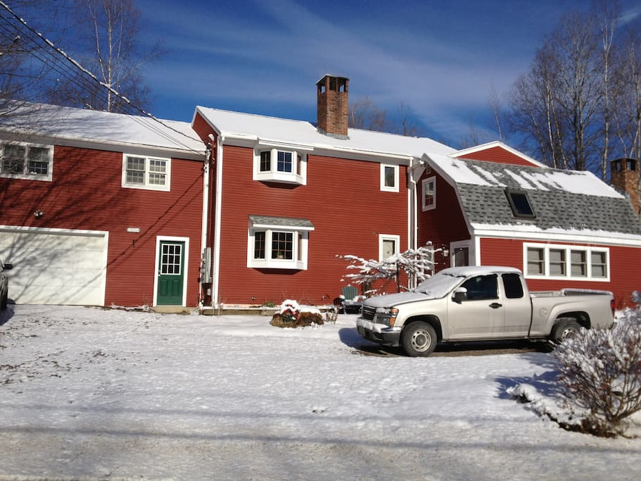 The house in Winter. Note: plenty of parking and plowing provided.