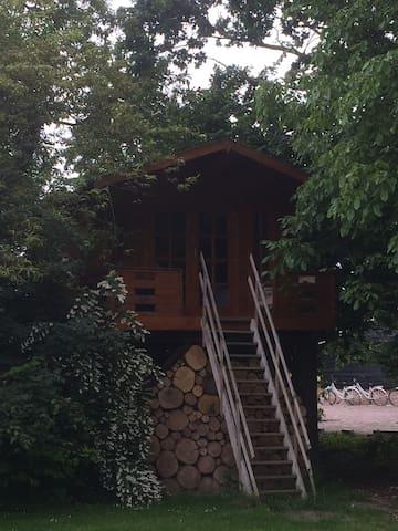Slapen tussen de boomtoppen in hartje Betuwe - Beesd - Casa na árvore