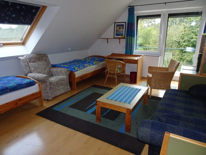 Schöne(s) Zimmer mit Balkon (als DZ oder EZ)