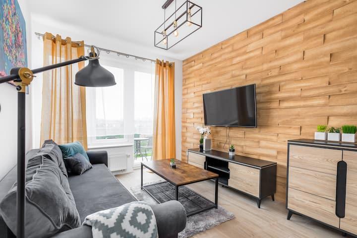 Przytulny Apartament 65 w Centrum Szczecina