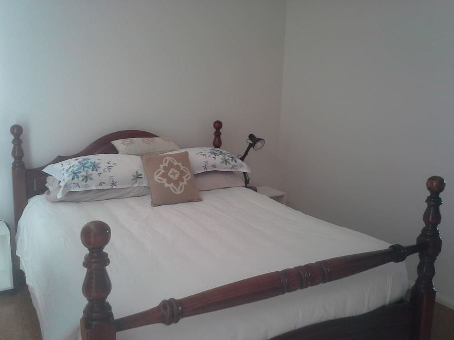 Queen size bed, wardrobe space, garden outlook, air conditioning