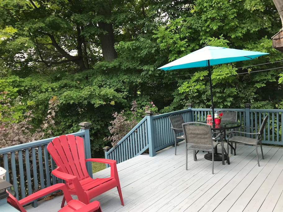 The back deck. An ideal spot to eat and relax.