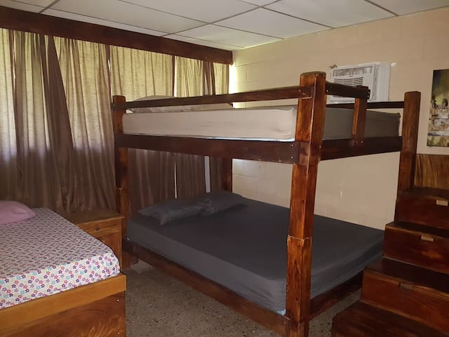 Double Bunks with Custom toddler bed, large closet A/C