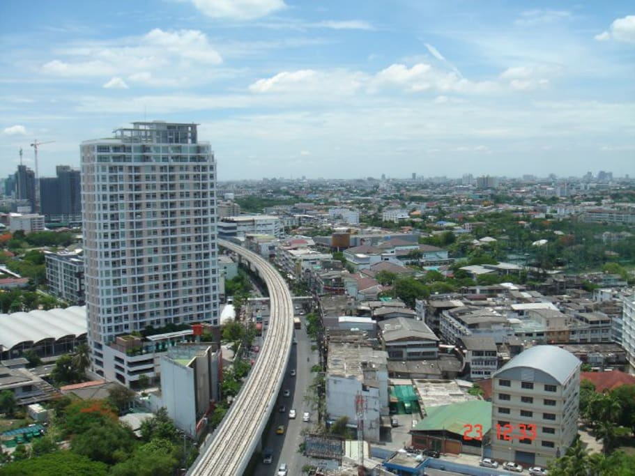 Sunny day in Bangkok (View from window) 22nd Floor