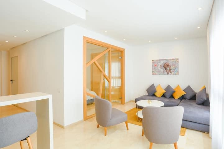 18. Sublime appartement centre-5 minutes de la mer