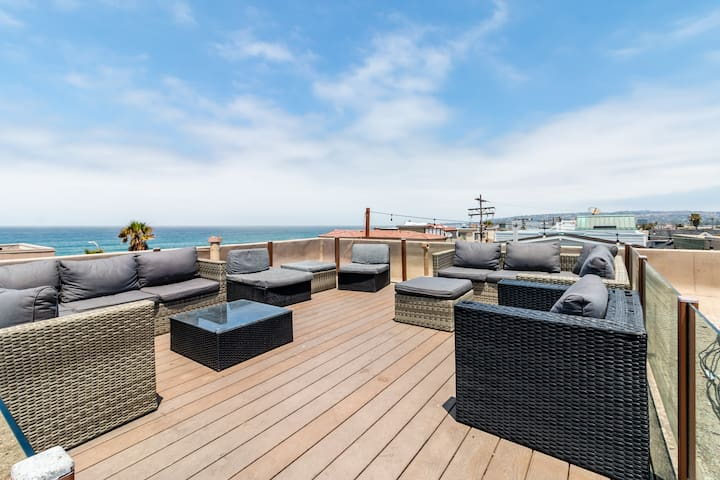Oceanview MB Condo/2BR/2BA/Rooftop+AC/Sleeps 10