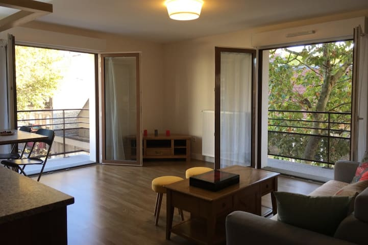 Well lit, spacious flat right at the door of Paris