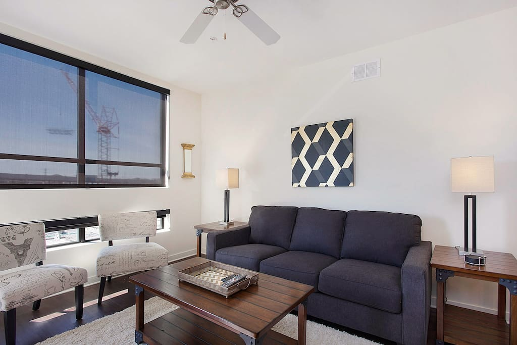 Living Room at City View by Stay Alfred!