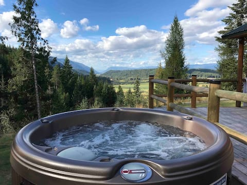 Hottub Firepit Amazing Views! The Cabin@Blackridge