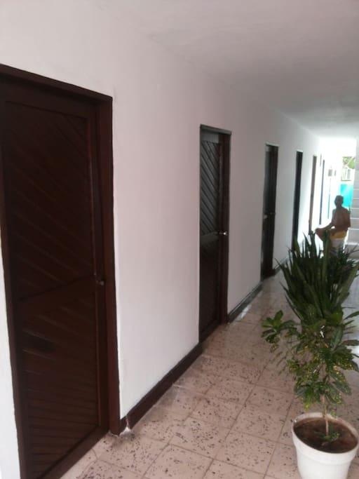 Corredor de habitaciones 2do piso