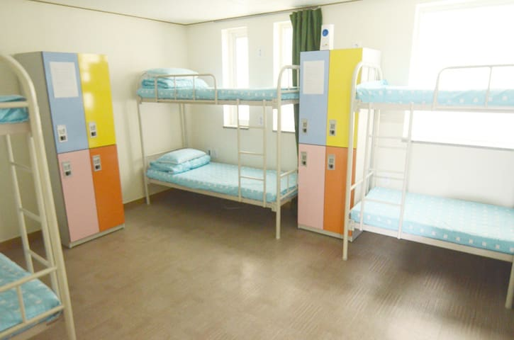 6Bed mixed dormitory bed w/ shared bathroom @Seoul