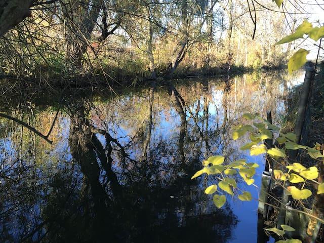 Access to river Dorfen from garden / Gartenzugang zur Dorfen