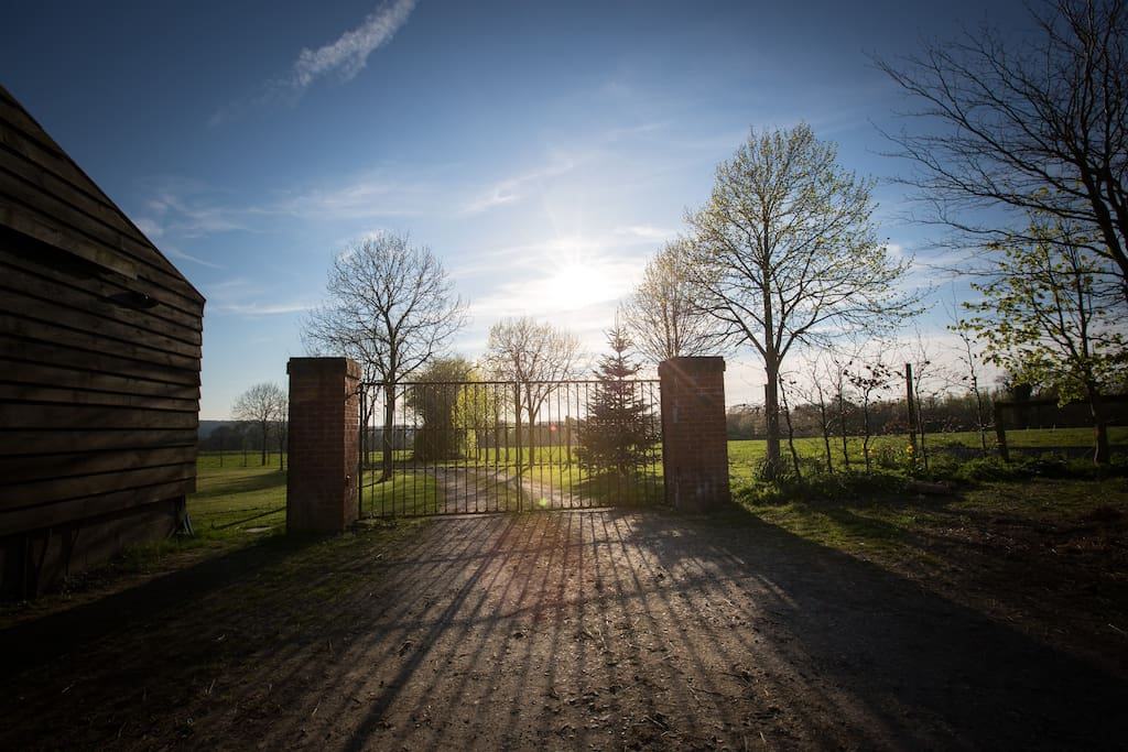 Gated entrance to the grounds.