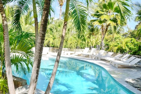 Naturist Pool View Suite in ViLLA Starfish , Orient Bay St Martin - Saint-Martin
