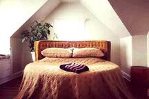 """1970's Queen Shagadelic Bed. 84"""" circumference. We are 5'10"""" and 5'4"""" and we adore it. If you are a larger person/couple you may want to consider our other listing ;)"""