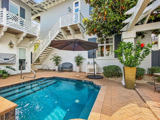 The Retreat at Rosemary~ Heatable Private pool~Paradise30a~Gulf Views