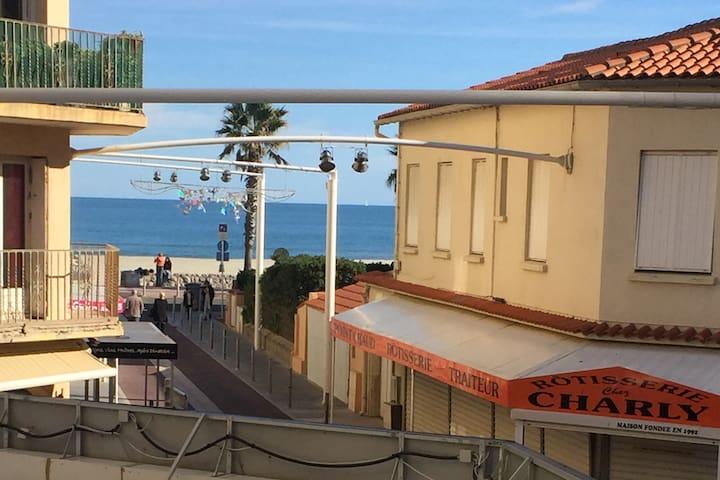 Appart Cosy à CANET-PLAGE,situé à 50m de la mer!!! - Canet-en-Roussillon - Apartamento