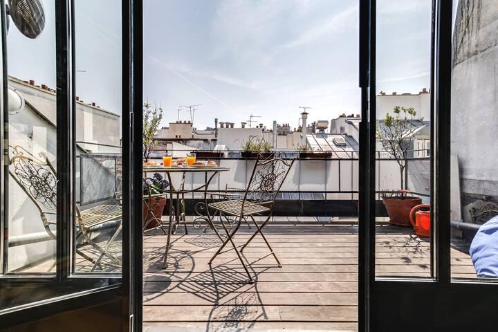 Luxurious DUPLEX with terrace - Montorgueil