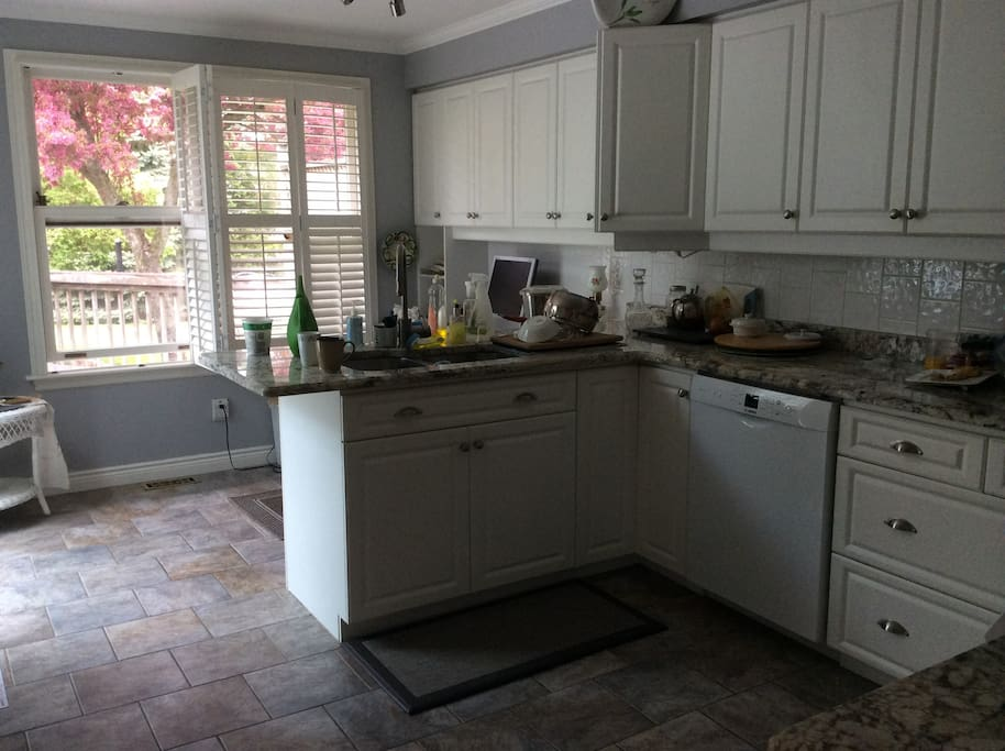Shared kitchen with homeowner