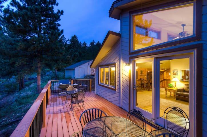 5 star western cabin golden boulder nederland cottages for Nederland cabin rental
