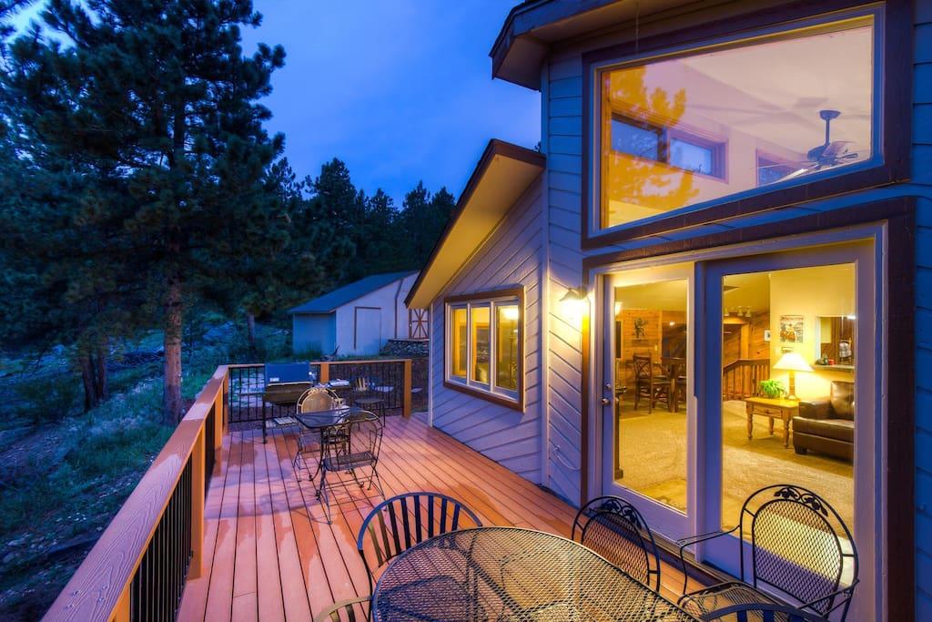 5 star western cabin golden boulder nederland cabins for Nederland cabin rental