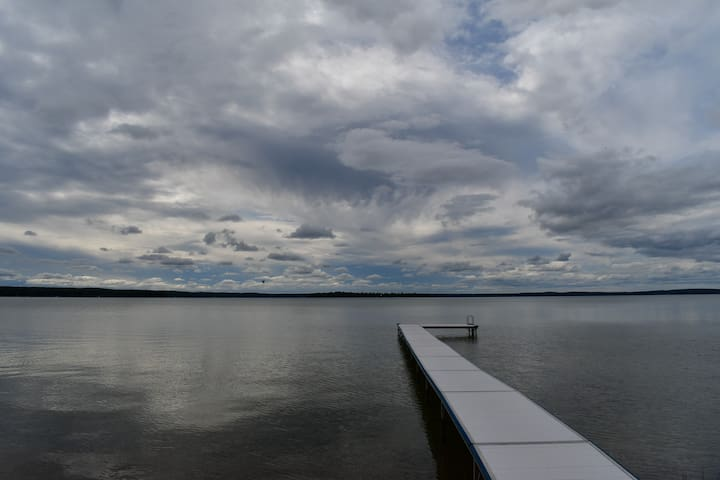 Peaceful Panoramic Higgins Lake 180 Ft Frontage.