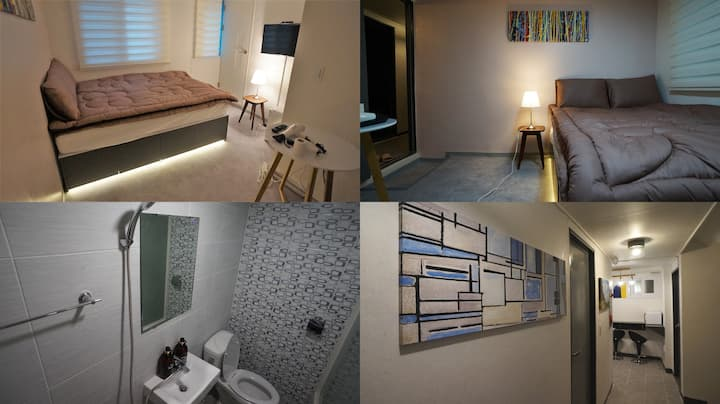 #204 Sinchon Sta 2mins, Hongdae 8mins Blue Mansion