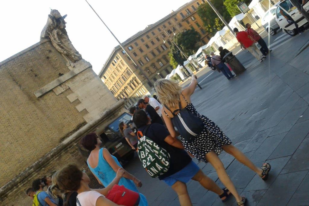 the corner of Vatican City & piazza Risorgimento